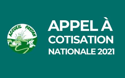 Appel à cotisation nationale 2021