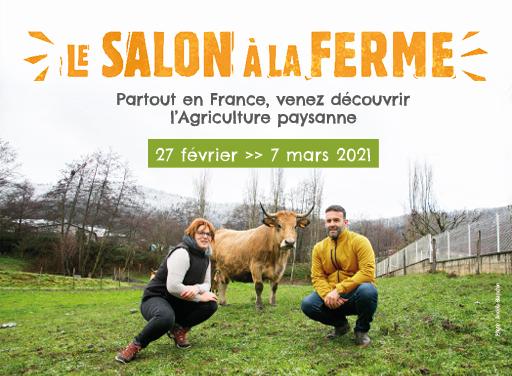 """Evénement """"Salon à la ferme"""" les 27 et 28 février 2021"""