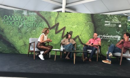 Accueil Paysan s'exprime au festival omnivore